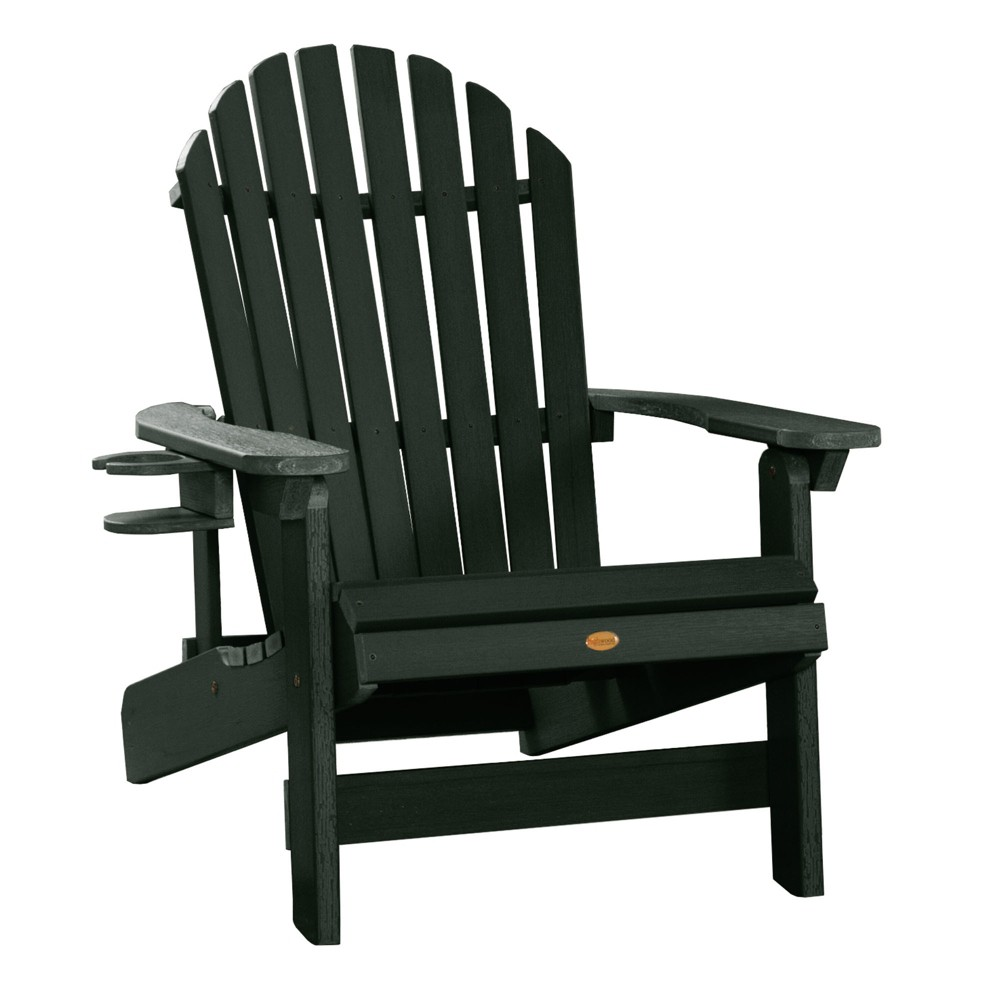 King Hamilton Folding & Reclining Adirondack Chair with Easy-Add Cup Holder Charleston Green - Highwood