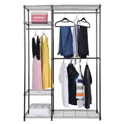 Costway 48''x18''x71'' Closet Organizer Garment Rack Portable Clothes Hanger Home Shelf