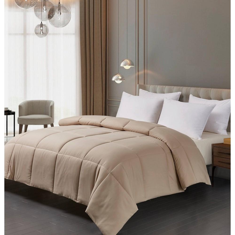 Image of Microfiber Down Alternative Comforter (Full/Queen) Khaki