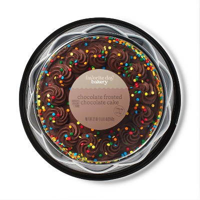 Chocolate Frosted Chocolate Celebration Cake - 8in/21oz - Favorite Day™