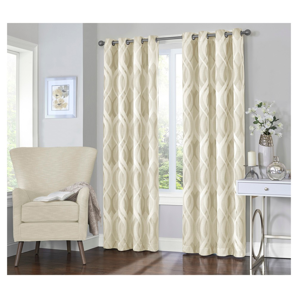 Caprese Blackout Curtain Ivory (52