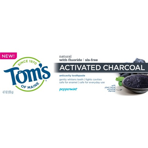Tom's of Maine Charcoal Anti-cavity Toothpaste - 4.7oz - image 1 of 2