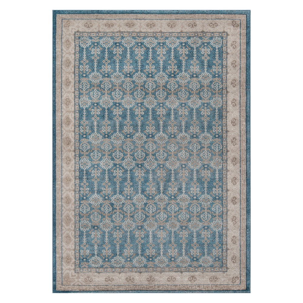 2'X3' Floral Loomed Accent Rug Blue - Momeni