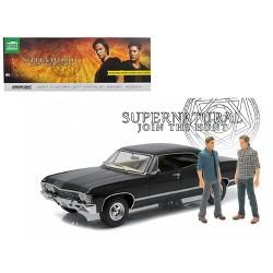 "1967 Chevrolet Impala Sport Sedan with Sam and Dean Figures ""Supernatural"" (2005) TV Series 1/18 Diecast Car Greenlight"