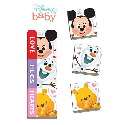 Disney Baby Love, Hugs, Hearts - (Board Book)