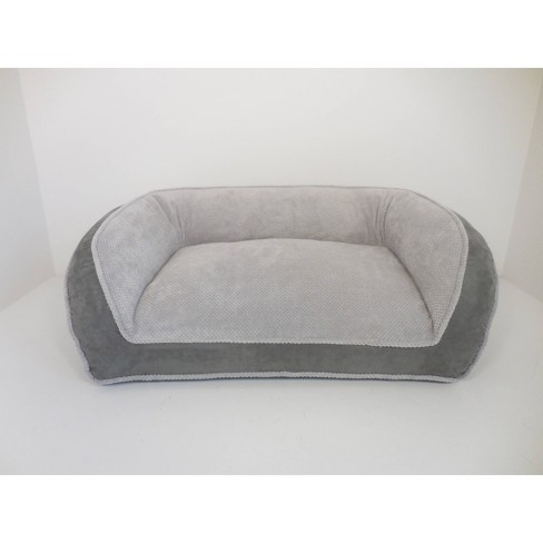 Arlee Home Fashions Deep Seated Lounger Sofa and Couch Style Charcoal Dog Bed - 40x25 - image 1 of 4