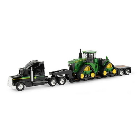 John Deere 9570RX Scraper Special with Semi and Lowboy Trailer- 1:64 Scale - image 1 of 1