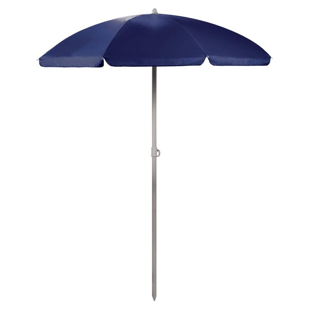 Picnic Time 5 5 39 Beach Umbrella Navy