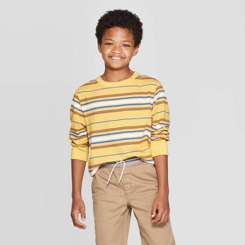 Boys' Long Sleeve T-Shirt - Cat & Jack™ Yellow - image 1 of 3