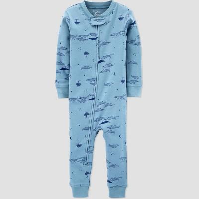 Baby Boys' Organic Cotton Gator Pajama Jumpsuit - little planet organic by carter's Blue 18M