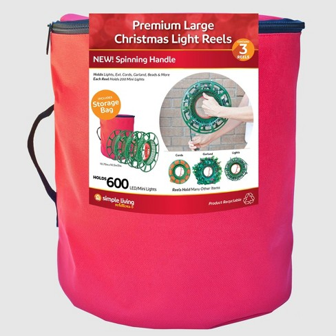 3ct Christmas Light Reels with Storage Bag - Simple Living Innovations - image 1 of 4