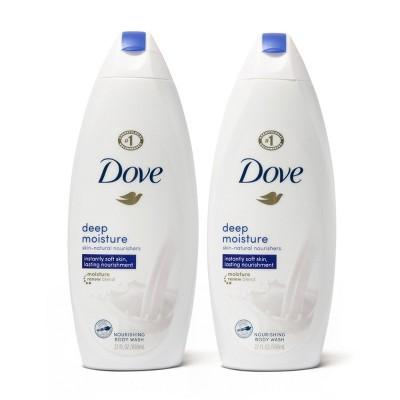 Dove Deep Moisture Nourishing Body Wash for Dry Skin - 22 fl oz