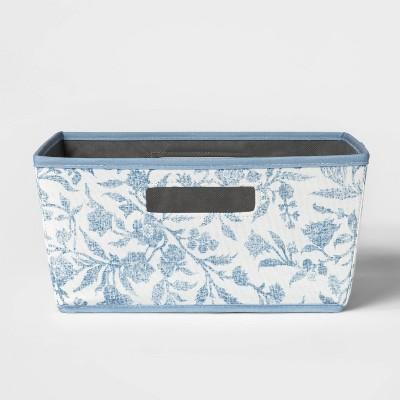 Half Bin Floral Pattern Blue - Threshold™