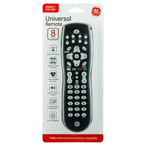 GE Universal Remote Control, 8 Device DVR Functions - Black - image 1 of 3