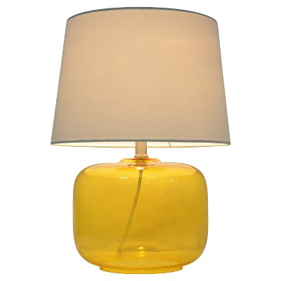 Glass Table Lamp Yellow (Includes CFL bulb)- Pillowfort™
