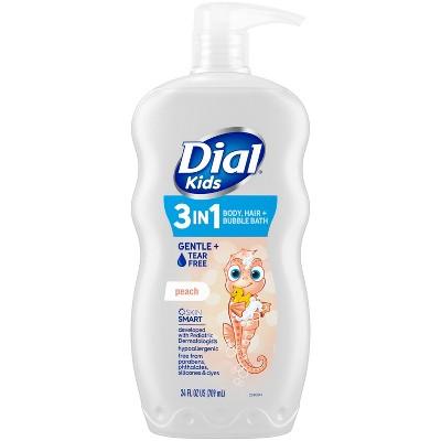 Dial Peach 3-in-1 Body, Hair and Bubble Bath for Kids - 24 fl oz