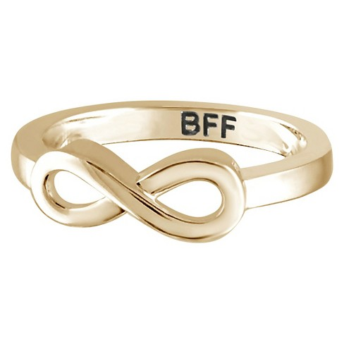 "Women's Sterling Silver Elegantly Engraved Infinity Ring with ""BFF"" - image 1 of 1"