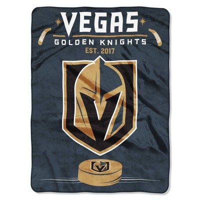 NHL Vegas Golden Knights Inspired Raschel Throw Blanket