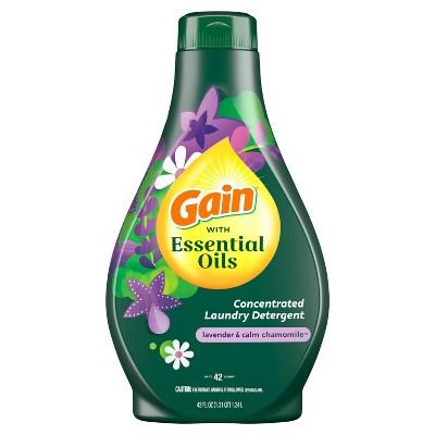 Gain with Essential Oils Lavender & Chamomile Calm Liquid Laundry Detergent - The Serene Scent - 42 fl oz