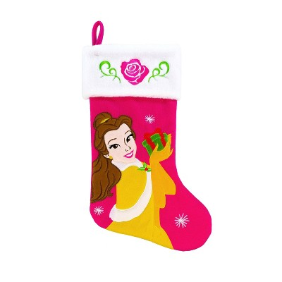 Disney Beauty and the Beast Belle Christmas Stocking Pink