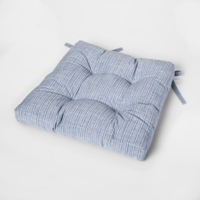 Blue Stripe Square Chairpad - Threshold™