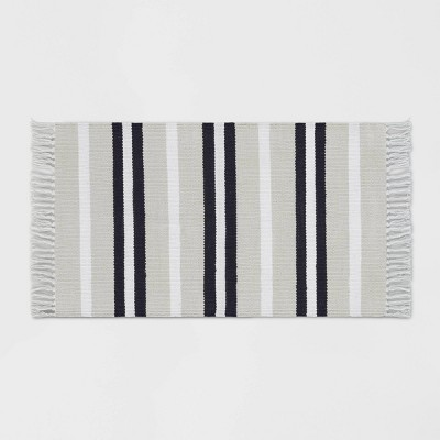 1'8 X2'10  Stripe Woven Accent Rug Gray - Room Essentials™