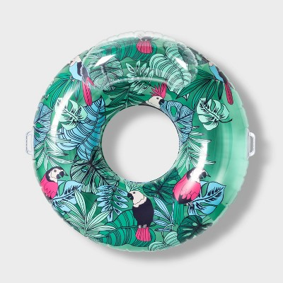 Swim Tube with Headrest Rainforest - Sun Squad™