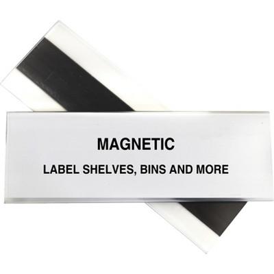 "C-Line Label Holder Magnetic f/ Shelf/Bin 2""x6"" 10/BX Clear 87247"