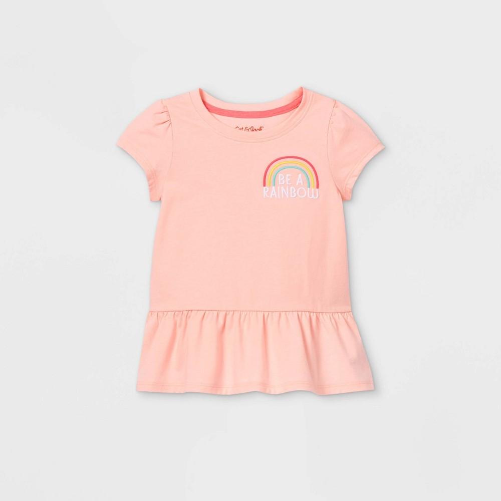 Toddler Girls 39 Peplum T Shirt Cat 38 Jack 8482 Pink 3t