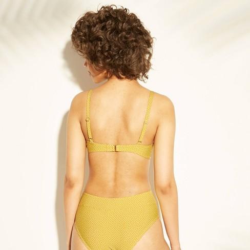 ae3f50dedddec Women s Underwire Bikini Top - Sunn Lab Swim Saffron Dot   Target