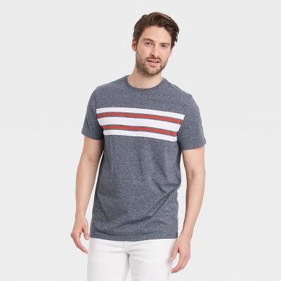 Men's Standard Fit Short Sleeve Striped Crew Neck T-Shirt - Goodfellow & Co™