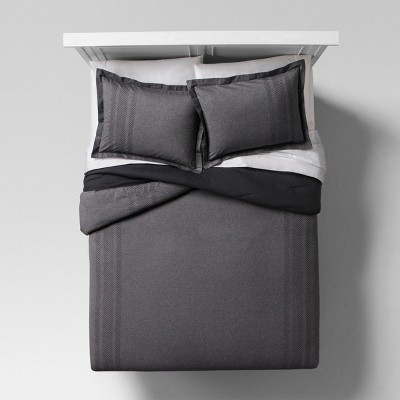 Gray Arrow Embroidered Chambray Comforter Set (King)- Project 62™