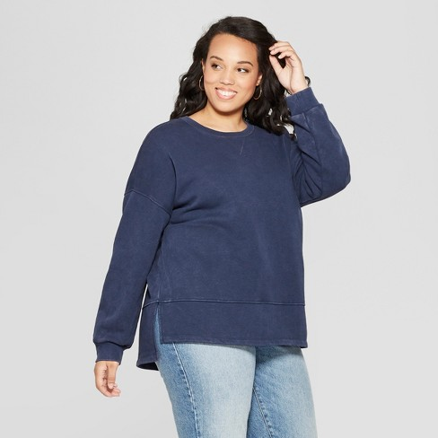 0e41336185f Women s Plus Size Tunic Long Sleeve Sweatshirt - Universal Thread ...