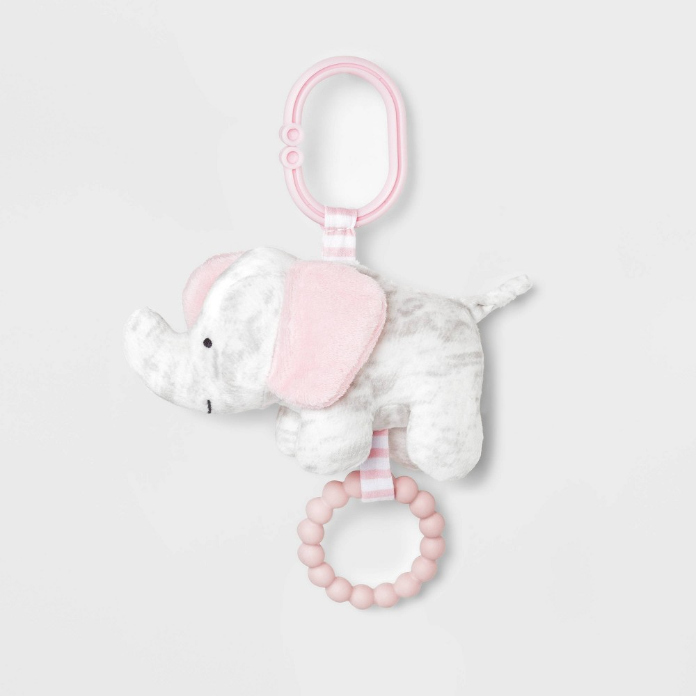 Image of Baby Elephant Rattle with Teether - Just One You made by carter's