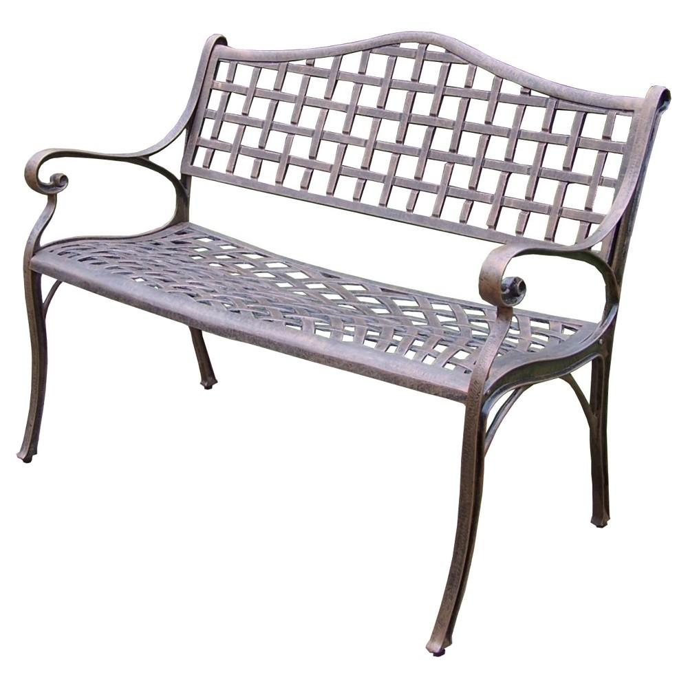 Image of Elite Cast Patio Settee Bench - Antique Bronze