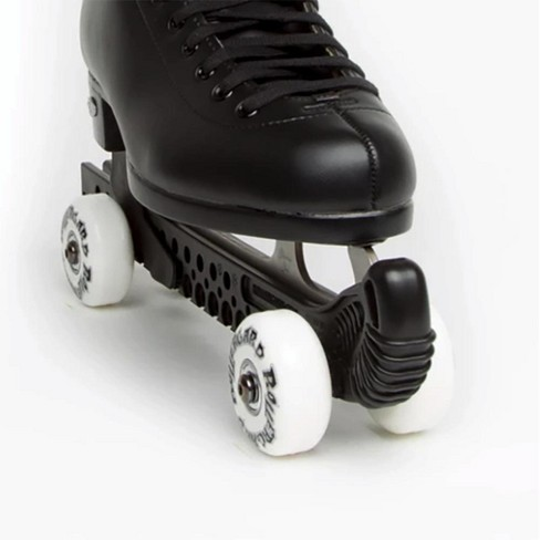 Rollergard Slip-On ROC-N-Roller Figure Skate Rolling Guard with a Floating Blade System, Black (2 Pack) - image 1 of 1