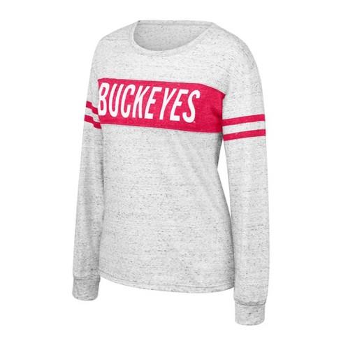 NCAA Ohio State Buckeyes Women's Long Sleeve Fashion T-Shirt - image 1 of 1
