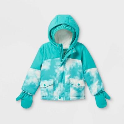 Toddler Girls' Tie-Dye Ski Jacket - Cat & Jack™ Teal