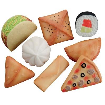 Yellow Door Sensory Play Stones: Foods of The World - Set of 8
