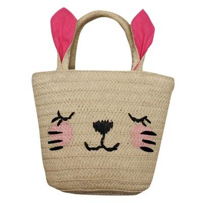 8d7a34cc2c Toddler Girls  Easter Bunny Straw Tote Bag - Cat   Jack™ Beige Pink