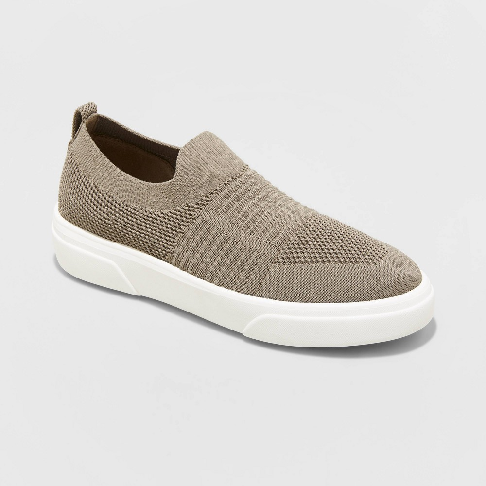 Women 39 S Khloe Knit Sneakers A New Day 8482 Taupe 6 5
