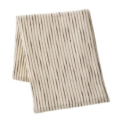 """Kenneth Cole New York Chenille Throw Blanket, Cotton, Ivory/Mink Brown, 50"""" X 60"""" : Target"""