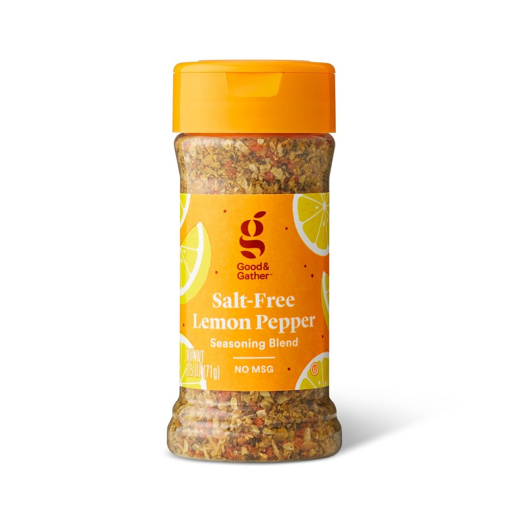 Salt Free Lemon Pepper Seasoning Blend 2 5oz Good 38 Gather 8482