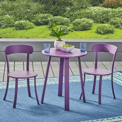 3pc Wrought Iron Patio Bistro Set - Christopher Knight Home