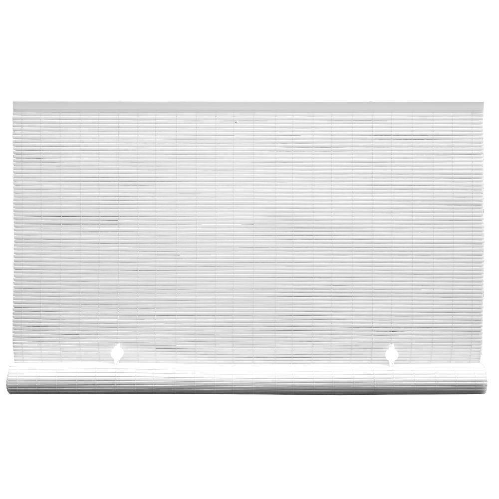 60 34 X 72 34 Oval Vinyl Cord Free Pvc Rollup Blinds White