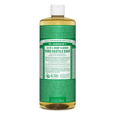 Dr. Bronner's 18-In-1 Hemp Pure-Castile Soap - Almond - 32 fl oz