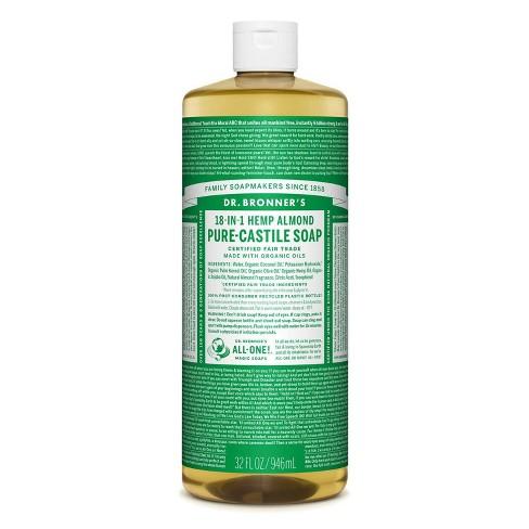 Dr. Bronner's 18-In-1 Hemp Pure-Castile Soap - Almond - 32 fl oz - image 1 of 3