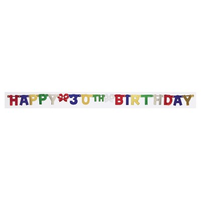 30th Birthday Party Banner