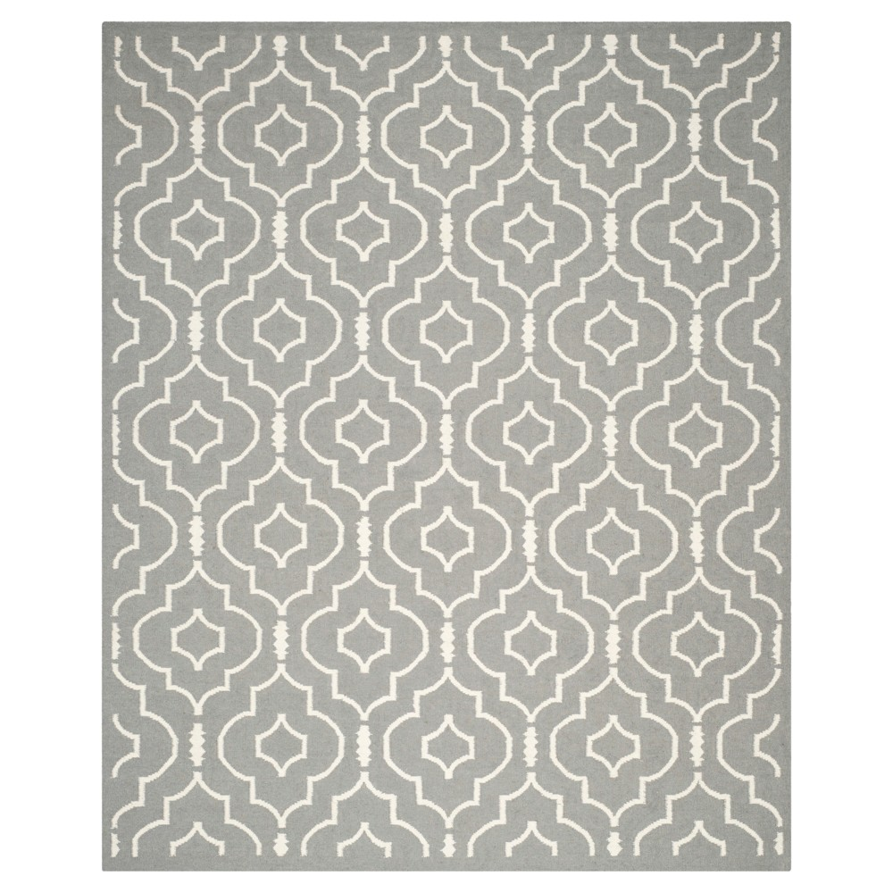Cheap Dhurries Rug - Gray Ivory - (10x14) - Safavieh