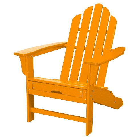 Outdoor All Weather Adirondack Chair With Attached Ottoman Aruba Hanover